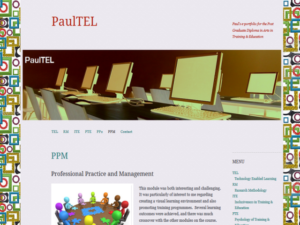 PaulTEL   Paul's e-portfolio for the Post Graduate Diploma in Arts in Training & Education