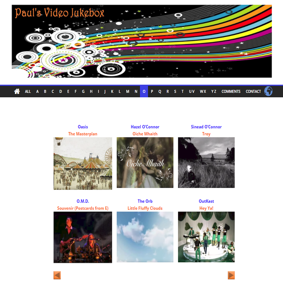 Paul's Video Jukebox – Favourite Music Videos of Mine
